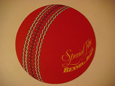 1982 Big Beer Coaster Mat >< BENSON and HEDGES Special Filter Tobacco Cigarettes