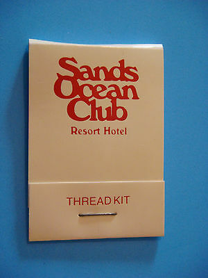 SANDS OCEAN CLUB Sewing Travel Kit Matchbook ~ Needle, Thread ~ Myrtle Beach, SC