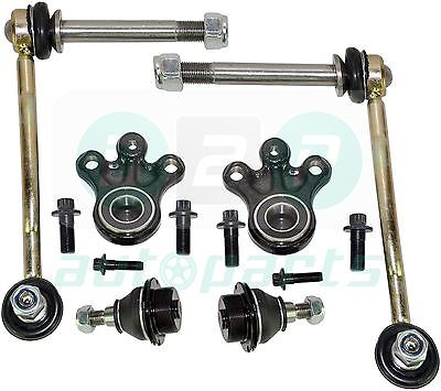 for Peugeot 407 Front Suspension Lower & Upper Ball Joints + Drop Links Kit