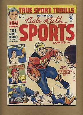 Babe Ruth Sports Comics #5 (Strict VG) baseball, Harvey; Golden Age (bl-0151)