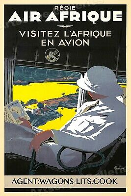Air Afrique Disneyland Jungle Cruise Classic 1936 Travel Poster - 16x24