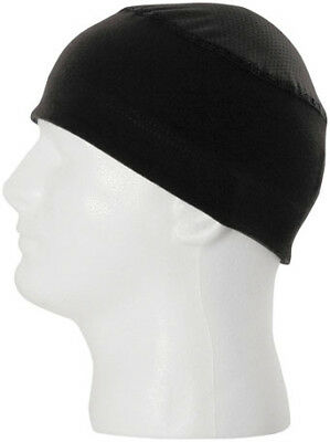 Schampa Stretch Skullie Skull Cap Black