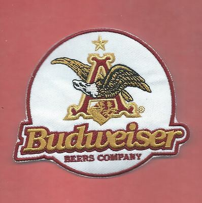 NEW 3 3/8 X 4 INCH BUDWEISER IRON ON PATCH FREE SHIPPING