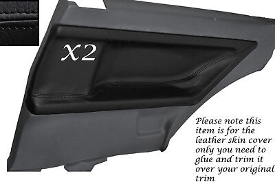 Black Stitch 2X Rear Door Card Leather Skin Covers Fits Bmw E36 Coupe 91-98