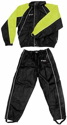 Frogg Toggs Mens Hogg Togg Full Cut 2 Piece Rainsuit Large Black Lime
