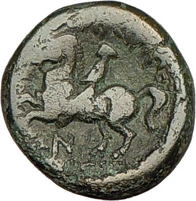 Philip II Alexander the Great Dad OLYMPIC GAMES Ancient Greek Coin Horse i18315