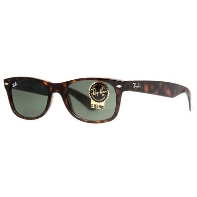 Ray Ban RB 2132 902 52mm Tortoise Brown Green Classic Square Sunglasses
