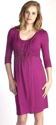 New Japanese Weekend Maternity Nursing Pink Basket Weave Dress Sm 6/8 & Lg 12/14