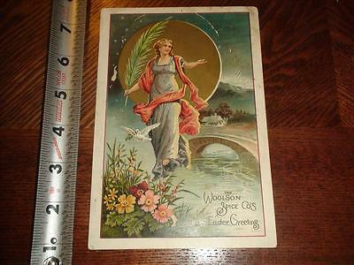 BS801 Vintage Victorian Trade Card Advertising Woolson Spice Co Coffee