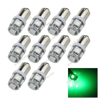 10X Green BA9S 57 W6W 5 5050 SMD LED License Plate Light Map Bulb Dome Lamp K001