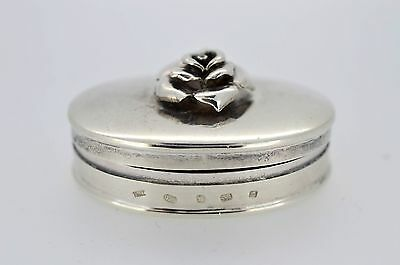 20th Century Sterling Silver Pill Box with English Hallmarks