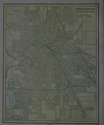 1901 Minneapolis, Mn. Color Atlas map**   113 years old!