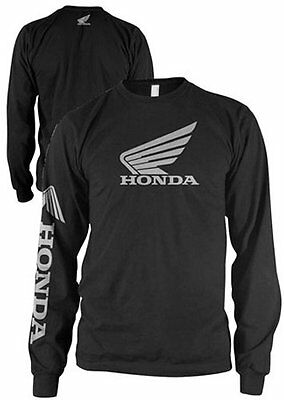Honda Wing Long Sleeve T-Shirt Black S/Small