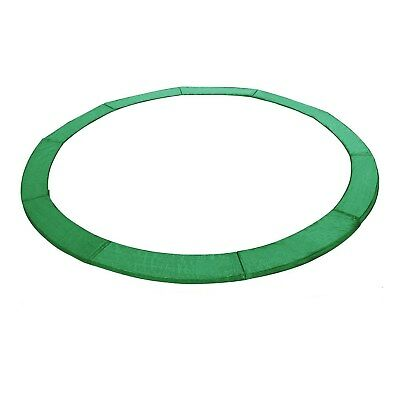 ExacMe 14' FT Trampoline Replacement Safety Pad Frame Spring Round Cover Green
