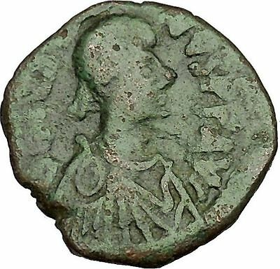 Justin I 518AD Big Authentic  Ancient Medieval Byzantine Coin Large K  i39774