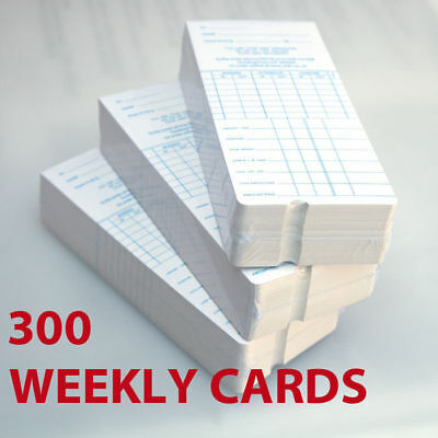 300 Weekly Payroll Cards For Employee Time Attendance Bundy Clock Recorder