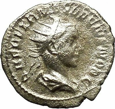 Herennius Etruscus brother of Hostilian  251AD Ancient Silver Roman Coin i39819