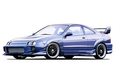 Wings West 1994-1997 Acura Integra 2Dr Aggressor Typ 2 Kit W/7Pc Extreme Flares