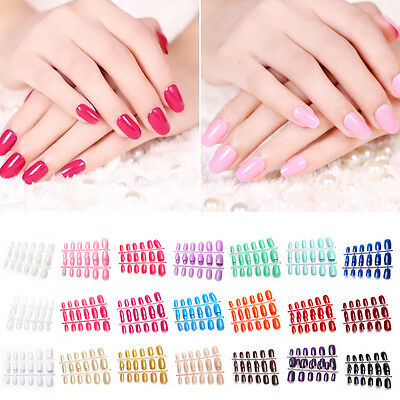 Top Quality Medium Full Cover Flexi False Nails Art/Full Cover Short UK seller