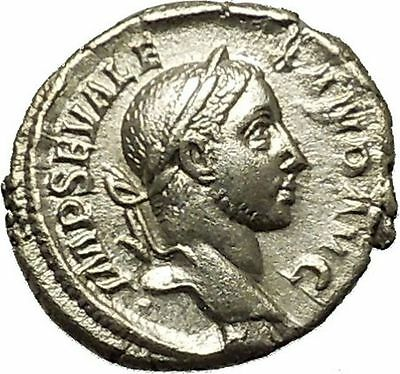 SEVERUS ALEXANDER 230AD Authentic Ancient Silver Roman Coin ROMA Cult  i39829