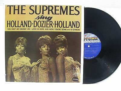 ORIGINAL STEREO MINT SOUL vinyl LP~THE SUPREMES SING HOLLAND DOZIER no barcode