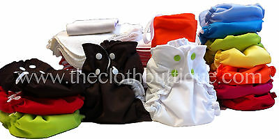 Applecheeks Cloth Diaper MICROTERRY Full Time Kit-One Size Size 1 OR Size 2
