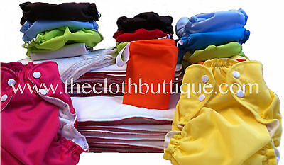 Applecheeks Cloth Diaper MICROTERRY Full Time Kit-Both Sizes Size 1 AND Size 2