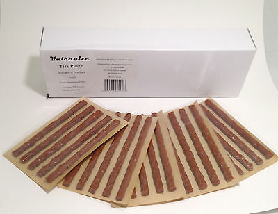 Tire Plug Inserts 4 in. long Brown 1/4 in. wide Soft Sticky BULK 10 Boxes JT4001