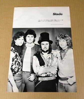 1984 Slade vintage JAPAN mag photo pinup / mini poster / clipping cutting