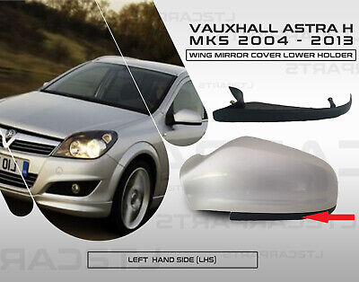 Left Hand Side Black Wing Door Mirror Holder Cover for Vauxhall Astra H 04-09