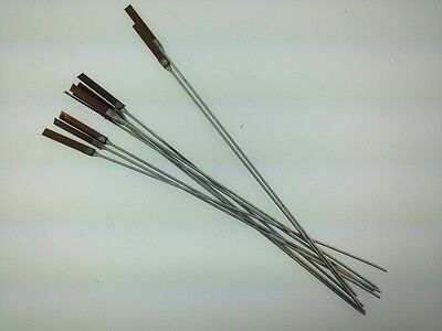 "Antique clock suspension spring rods 9"" set of 10"