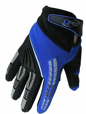 Motocross GLOVES by Qtech Trials Enduro off Road YAMAHA BLUE MX ADULT all Sizes
