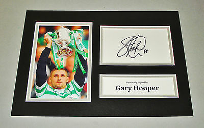 Gary Hooper Signed A4 Photo Display Glasgow Celtic Autograph Memorabilia + COA
