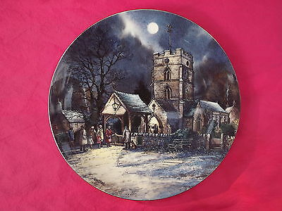 Wedgwood Boxed Collector Plate Village by Moonlight Series EVENSONG