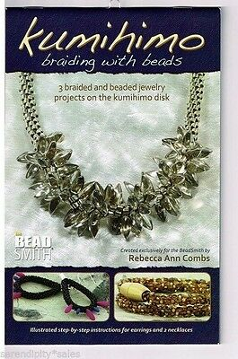 KUMIHIMO Braiding with BEADS ~ Craft Instruction Booklet by Rebecca Ann Combs