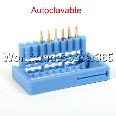 1Pc Dental Endo Hand Engine Root Canal Files Holder Sterilizing Disinfection Box