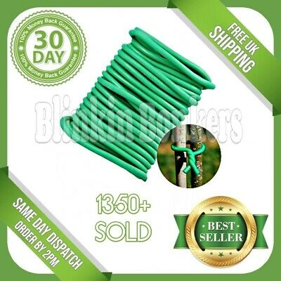 5M Plant Twine Green Soft Flexible Bendy Garden Support Wire Cable Twist Tie 21A