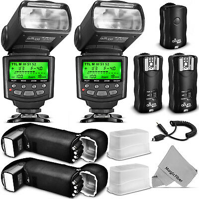 Professional Flash Kit for NIKON DSLR - 2 I-TTL Flash & Trigger by Altura Photo®