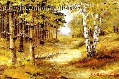 """Chinese 100% Real Natural Silk thread,Hand Embroidery Kits:landscape 16"""""""