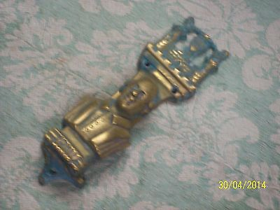 Early Brass Door Knocker * Warwychi, Obit 1611 * Y101 #