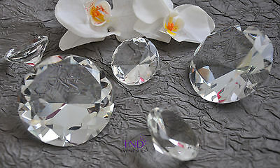 Glass Crystal Cut Diamond Shape Gem  Stone Table Scatter Confetti Paperweight
