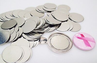 """Steel Metal Discs 3/4"""" dia19mm for use to make Magnetic Pendants - 100/500/1000"""