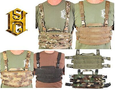 HSGI AO Small Chest Rig MOLLE Panel-Multicam-Coyote-OD-Black-Highlander-Woodland