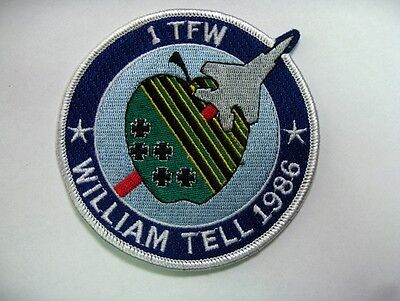 USAF 1st TACTICAL FIGHTER WING *WILLIAM TELL 1986* MINT VINTAGE UNUSED PATCH