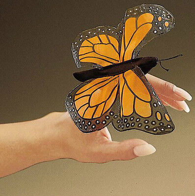 MONARCH BUTTERFLY Finger Puppet  # 2156 ~ Free Ship/ USA ~ Folkmanis Puppets