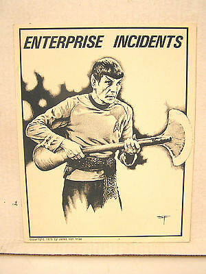 1976 ENTERPRISE INCIDENTS #1 Magazine-Star Trek Zine