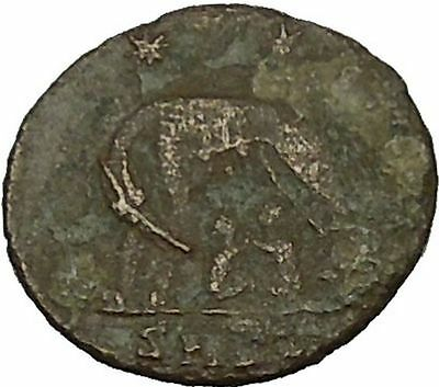"""Constantine I The Great Ancient Roman Coin Romulus & Remus """"Mother"""" wolf i40036"""