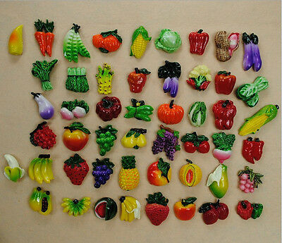Refrigerator magnets Fruits Vegetables magnet For your Fridge Set of 10 Pieces