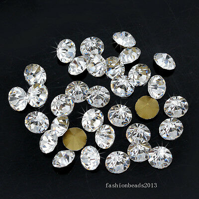 Clear Czech glass Crystal Rhinestones Pointed Back PP4-PP31 SS1-SS47 pk Size