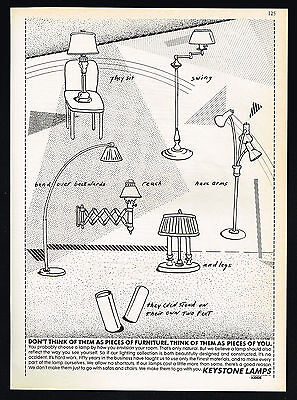 1983 Keystone 7 Assorted Lamps Not Furniture Pieces Of You Print Ad